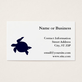Dark Blue Sea Turtle Business Card