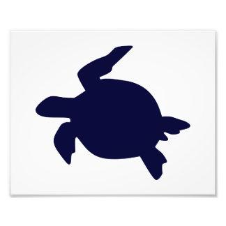 Dark Blue Sea Turtle Horizontal B Photo Art