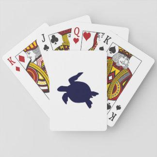 Dark Blue Sea Turtle Playing Cards