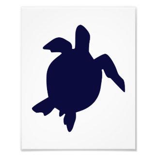 Dark Blue Sea Turtle Vertical B Photograph