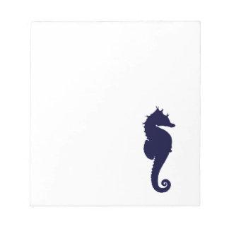 Dark Blue Seahorse Notepad