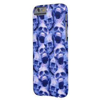 Dark Blue Skulls Barely There iPhone 6 Case