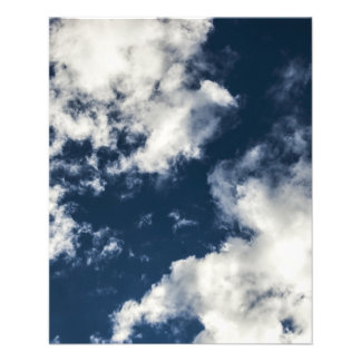 Dark blue sky and beautiful clouds 11.5 cm x 14 cm flyer