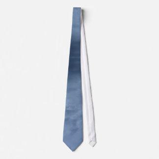 Dark blue sky reflection tie
