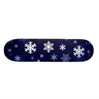 Dark Blue Snowflakes Custom Skate Board