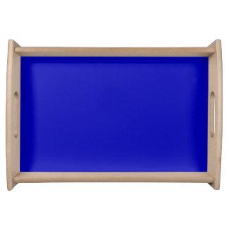 Dark Blue Solid Colour Service Tray