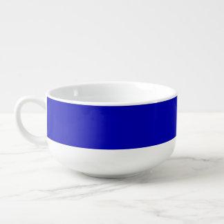 Dark Blue Solid Colour Soup Mug