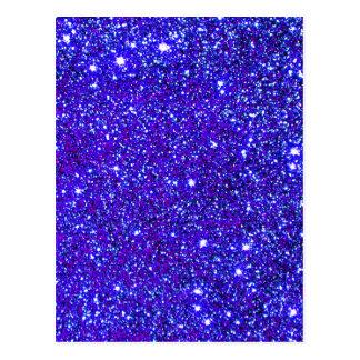 Dark Blue Sparkle Glitter Night Sky Starfield Star Postcard