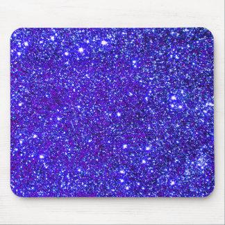 Dark Blue Sparkle Universe Night Sky Stars Mouse Pad