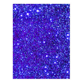 Dark Blue Sparkle Universe Night Sky Stars Postcard