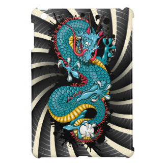 Dark Blue splash dragon iPad Mini Case