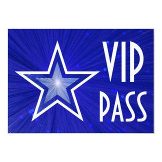 Dark Blue Star 'VIP PASS' invitation horizontal