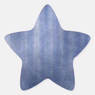 Dark Blue Striped Grunge Design Star Sticker