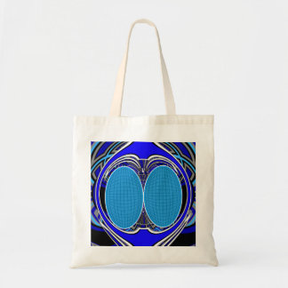 Dark blue superfly design tote bags