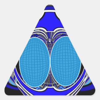 Dark blue superfly design sticker