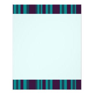 Dark blue teal striped 11.5 cm x 14 cm flyer