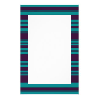 Dark blue teal striped personalized flyer