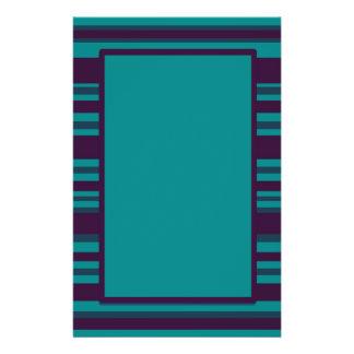 Dark blue teal striped custom flyer