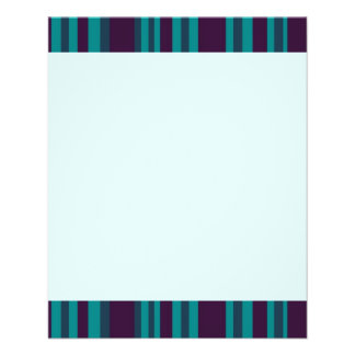 Dark blue teal striped flyer design
