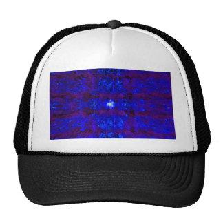 Dark Blue Textured Pattern Modern Art Mesh Hats