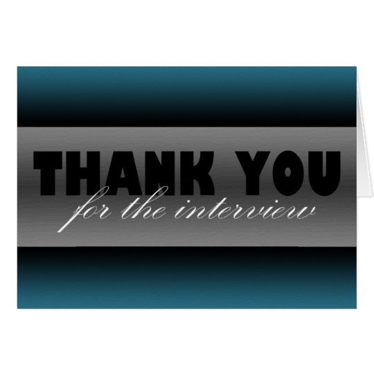 """Dark Blue """"Thank you for the interview"""" Card"""