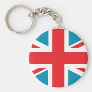 Dark Blue Union Jack British(UK) Flag Keychain