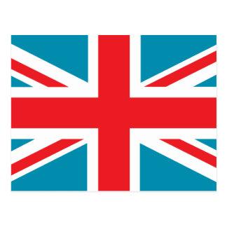 Dark Blue Union Jack British UK Flag Post Card