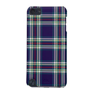 Dark Blue Vintage Plaid iPod Touch (5th Generation) Case