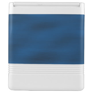 Dark Blue Water Ripples Cooler