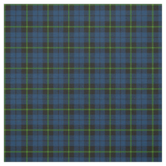 dark blue with green strip plaid print fabric