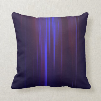 Dark Blue with Purple Streaking Abstract Cushion