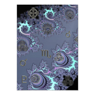 Dark Blue Zodiac Sign Scorpio Mystical Invite