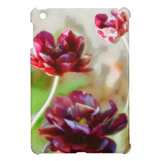 Dark Bordeaux Peony Flowering Tulip Trio iPad Mini Cover