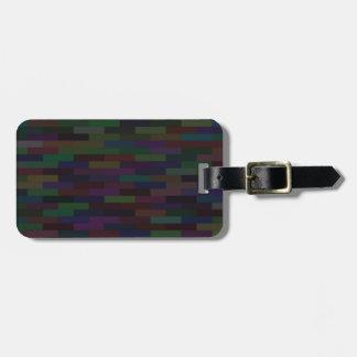 dark bricks luggage tag