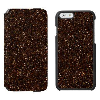 Dark Bronze Orange Glitter Incipio Watson™ iPhone 6 Wallet Case
