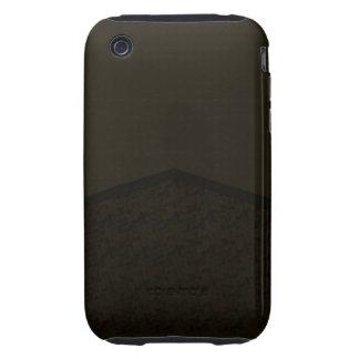 Dark brown black texture tough iPhone 3 cases