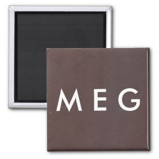Dark Brown Faux Leather Magnet