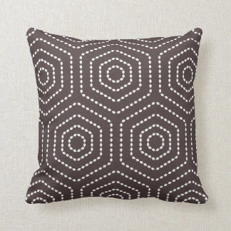 Dark Brown Geometric Pattern Pillow