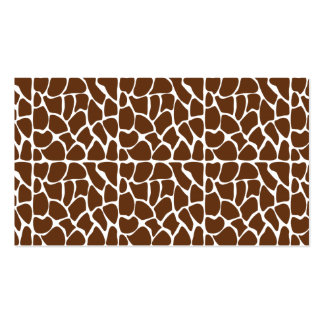 Dark Brown Giraffe Pattern Double-Sided Standard Business Cards (Pack Of 100)