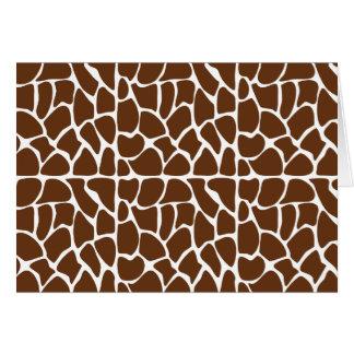 Dark Brown Giraffe Pattern Card