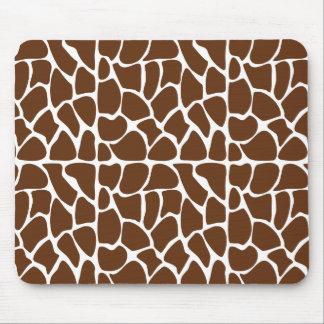 Dark Brown Giraffe Pattern Mousepad