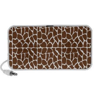 Dark Brown Giraffe Pattern iPhone Speaker