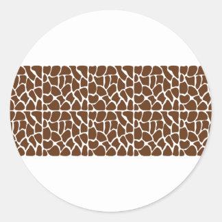 Dark Brown Giraffe Pattern Stickers