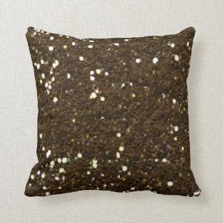 Dark brown glitter texture pillow