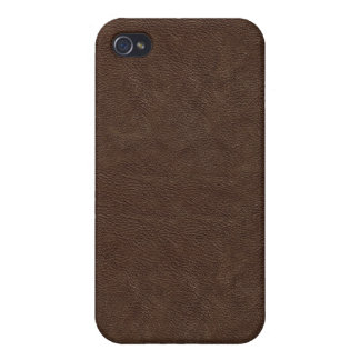 Dark Brown Leather Look  iPhone 4/4S Covers
