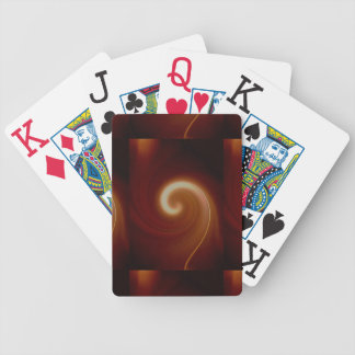 Dark Brown Light Spiral Art Bicycle Playing Cards