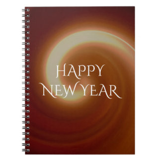 Dark Brown Light Spiral Art Spiral Note Book