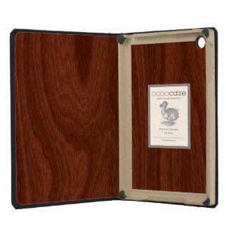 Dark Brown Mahogany Wood Pattern Woodgrain Look iPad Mini Retina Cover