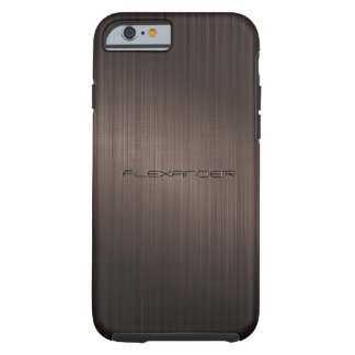 Dark Brown Metallic Look Pattern-Monogram Tough iPhone 6 Case