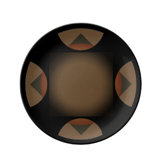 Dark Brown Motif accent Plate